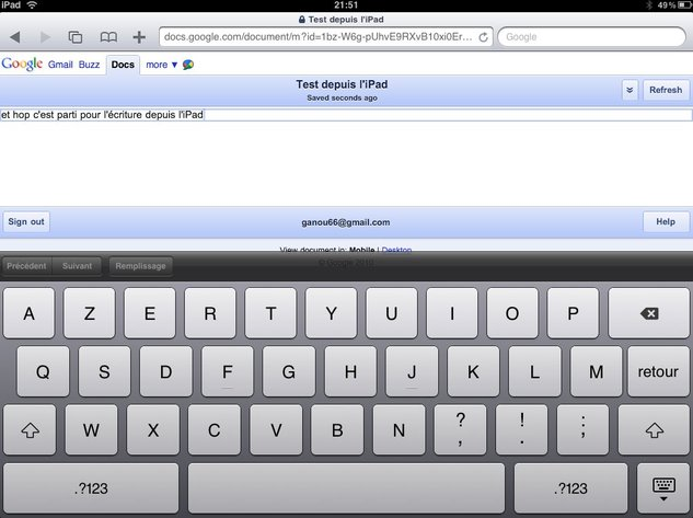 Google Documents sur iPhone, iPad, Android, et tous les mobiles