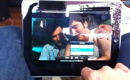 Démonstration vidéo de AirPlay depuis l'iPad