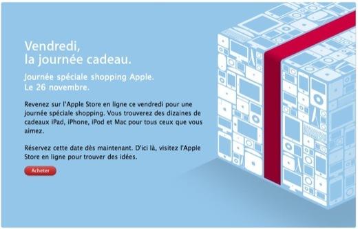 Vendredi c'est la journée Shopping chez Apple