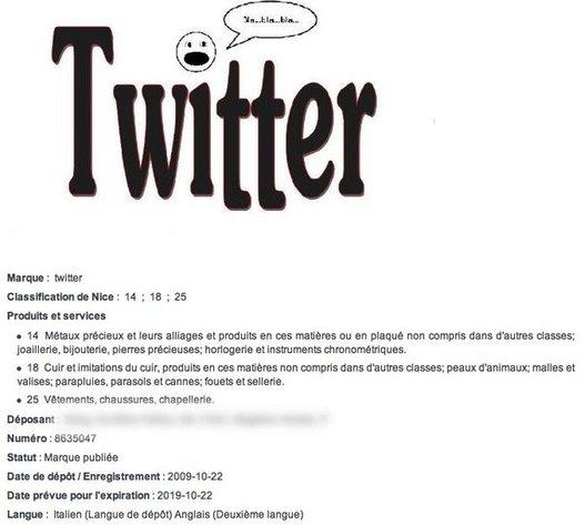 Twitter est une marque italienne ?