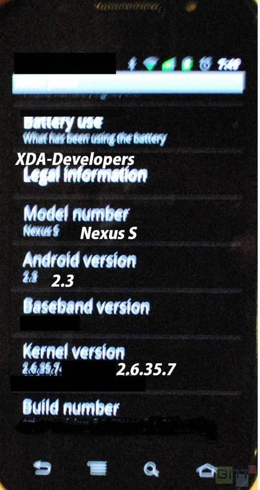 Nexus S - Encore de nombreuses questions..
