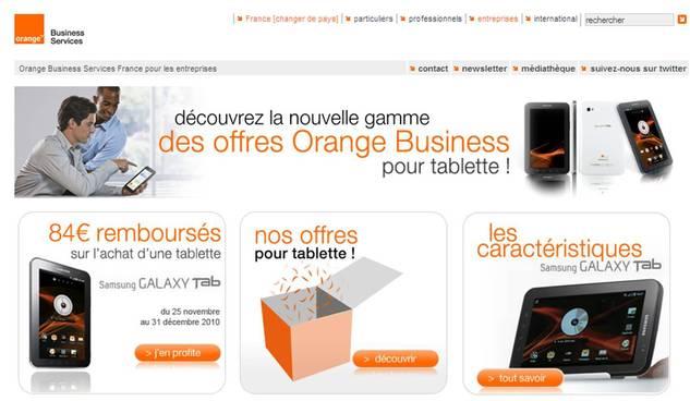 Galaxy Tab - Orange Business lève le voile avec ses forfaits pro pour tablettes