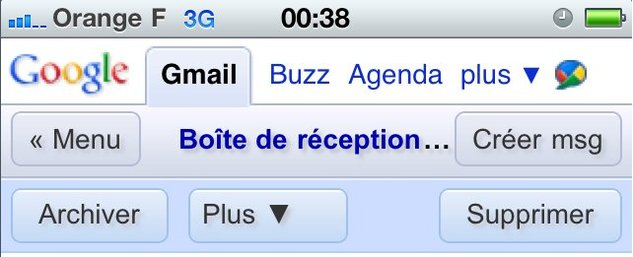 Gmail Mobile change de look sur l'iPhone