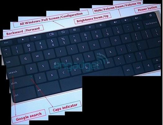 Le clavier du Google Netbook sous Chrome OS ?