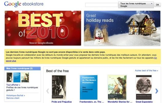 Google eBooks est en ligne