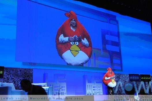 LeWeb'10 - Loïc et Angry Birds