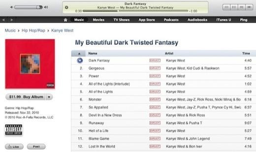 iTunes - Pré-écoute de 90 secondes aux USA