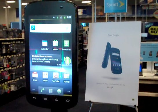 Un Google Nexus S de salon