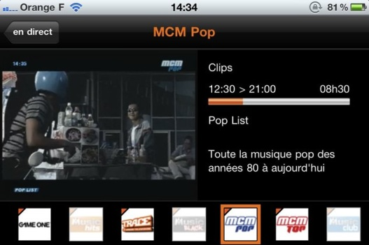 Orange TV sur iPhone en Wifi !
