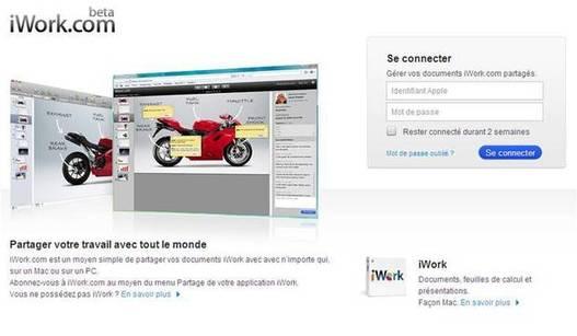 Apple iWork - Des nouveautés sur iWork.com beta