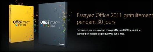 Microsoft Office 2011 Mac en version d'essai