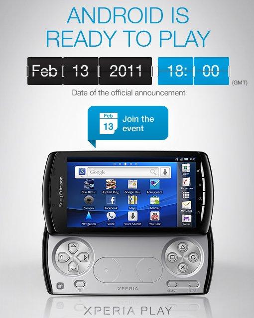 Le Sony Ericsson Xperia Play pour le 13 février 2011