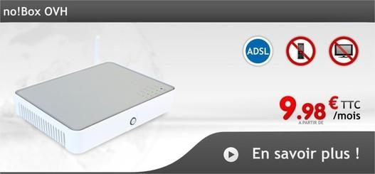 OVH propose l'ADSL à partir de 9.98 € par mois mais ...