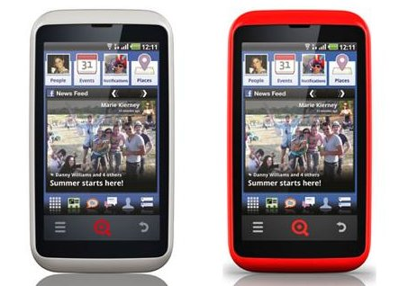 Les Facebook Phone de INQ Mobile