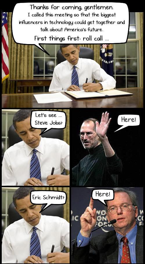 Steve Ballmer manquait à l'appel d'Obama
