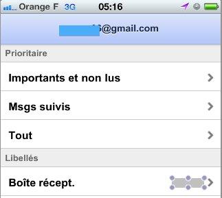 Gmail pour Mobile - Quelques améliorations