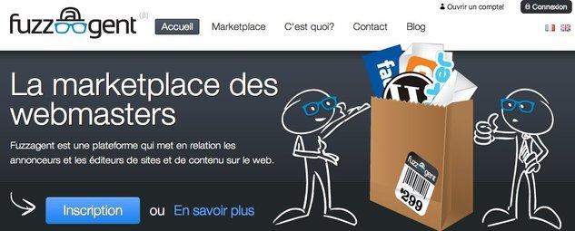 FuzzAgent - La place de marché des webmasters