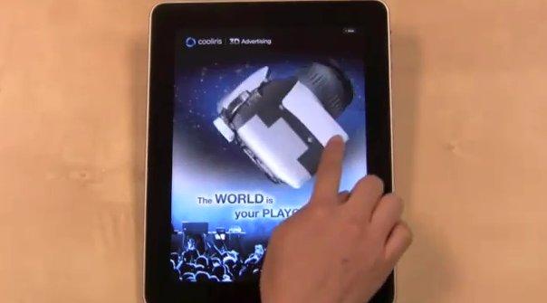 Des pubs 3D bientôt sur l'iPad