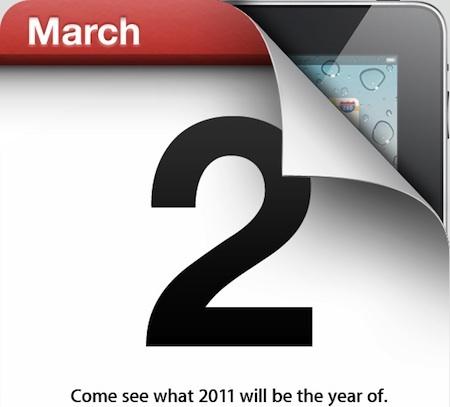 iPad 2 - En vente dès le 2 mars 2011 ?