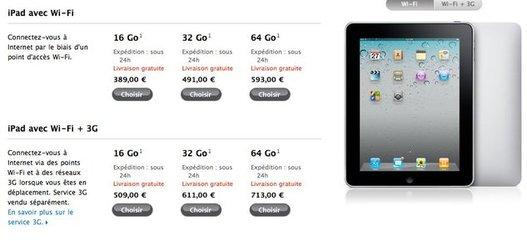 iPad - Les prix en baisse