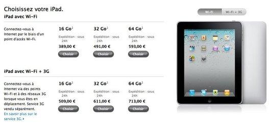 iPad - Apple rembourse 100 $