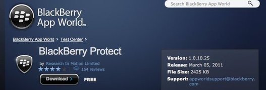 Blackberry Protect - Le MobileMe gratuit de Blackberry