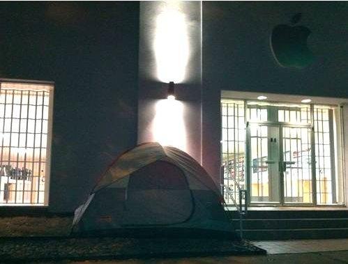 iPad 2 - La première tente est plantée