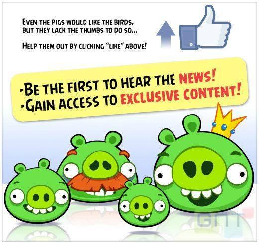 Le jeu Angry Birds bientôt sur Facebook
