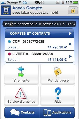 Accès Compte - La Banque Postale lance son application sur iPhone
