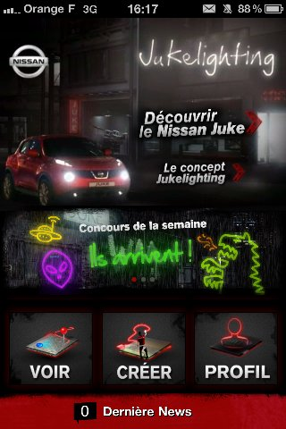 Nissan lance l'application JukeLighting sur iPhone
