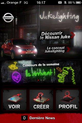 Nissan lance l'application JukeLighting sur iPhone
