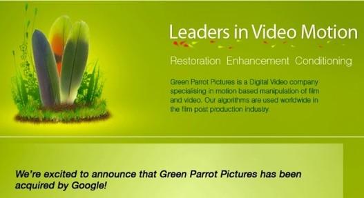 Google achète Green Parrot Pictures