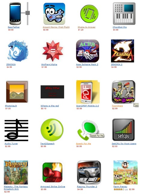 Amazon AppStore - Les premières images et prix d'applications