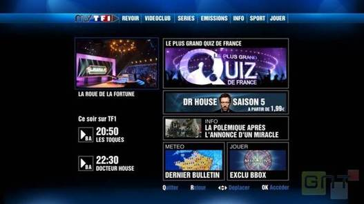 TF1 propose sa chaine MyTF1 sur Freebox