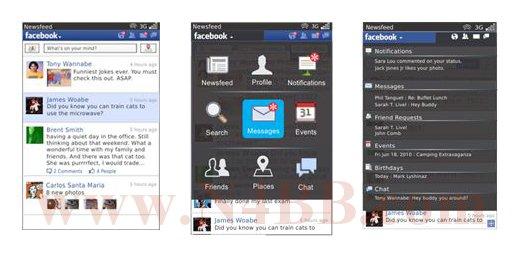 RIM - L'application Facebook 2.0 en bêta