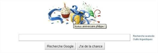Google me fête mon anniversaire - Merci :)