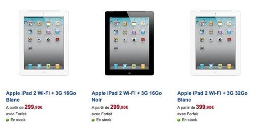iPad 2 - 299,90 € chez SFR