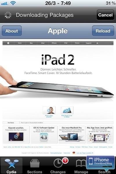 Apple bloque l'accès à Cydia dans les Apple Store
