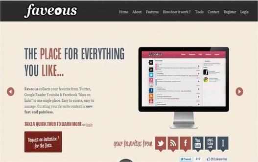 Faveous - Enregistrer et consulter vos coups de coeur