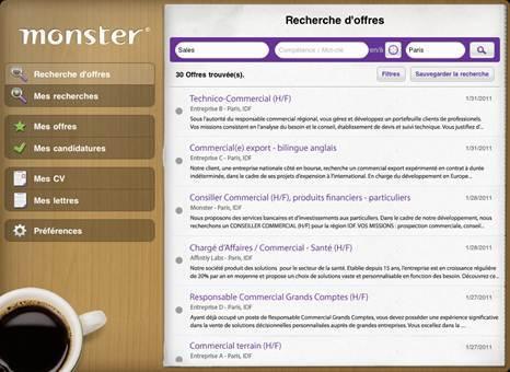 Monster.fr lance la première application iPad dédiée au recrutement !