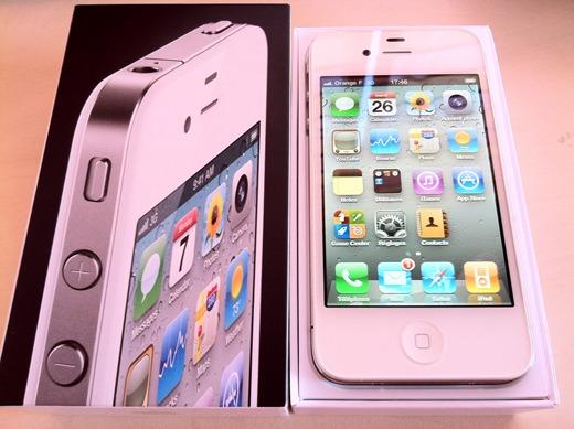 L'iPhone 4 blanc disponible dans des boutiques en France mais pas en ligne