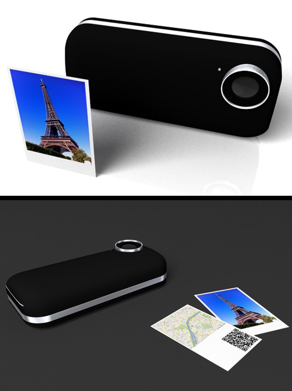 Concept iPhone - Etui imprimante Polaroïd pour iPhone