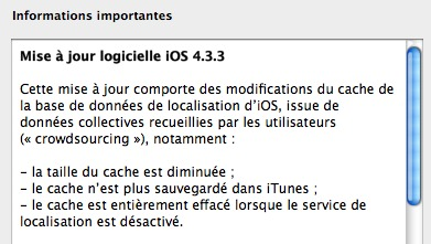 Télécharger iOS 4.3.3 iPhone, iPad et iPod Touch