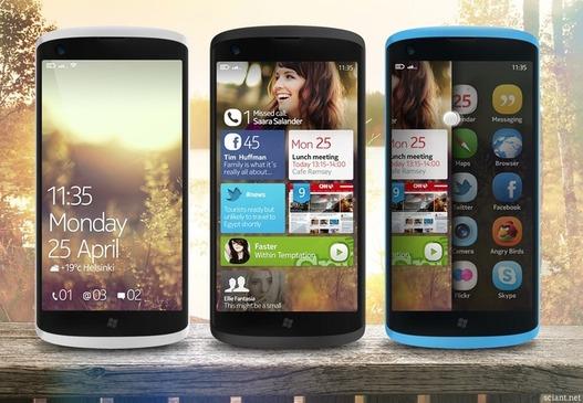 Concept - Mobile Nokia sous WP7