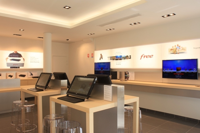 Un Free Center aux airs d'Apple Store