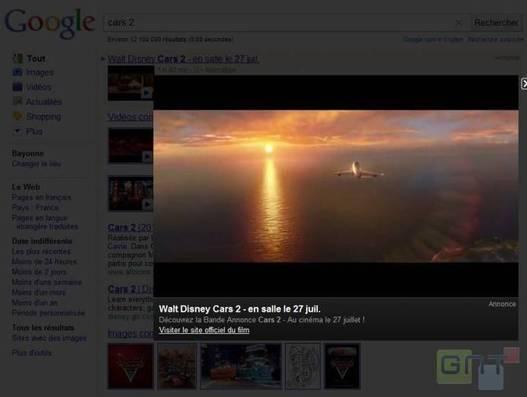 Des pubs vidéos au format cinéma chez Google
