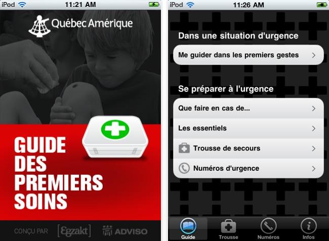 Le Guide des premiers soins sur iPhone