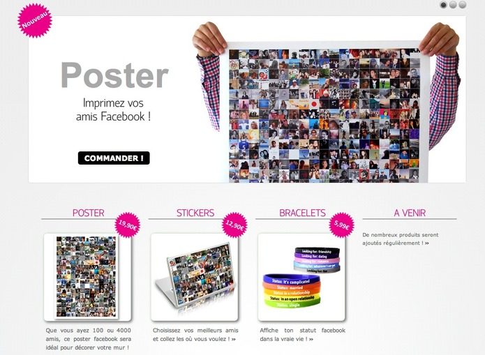 Social Printer - La boutique Facebook