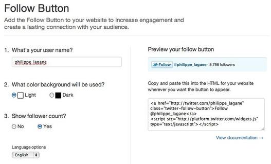 Twitter - Un nouveau bouton d'abonnement