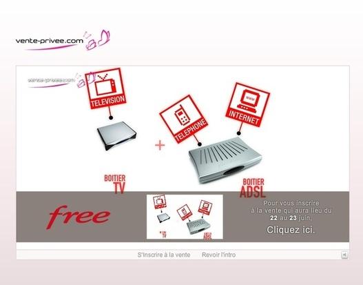Free fait une seconde apparition sur Vente-Privee.com